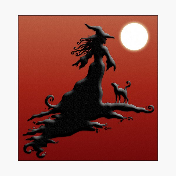Witch's Silhouette - Prints and Cards Photographic Print