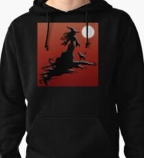 Witch's Silhouette - Clothing and Stickers Pullover Hoodie
