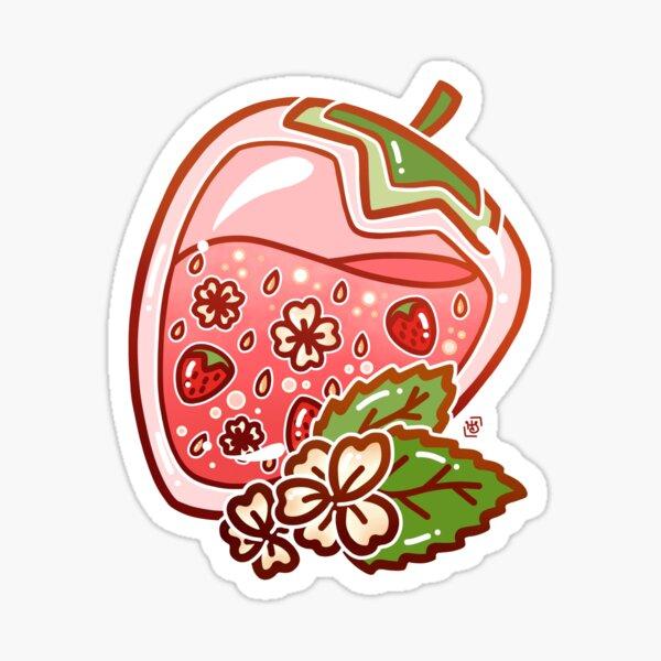 Glass Strawberry Sticker