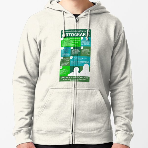 Ways Parents Can Help with Spelling - Spanish Version Zipped Hoodie