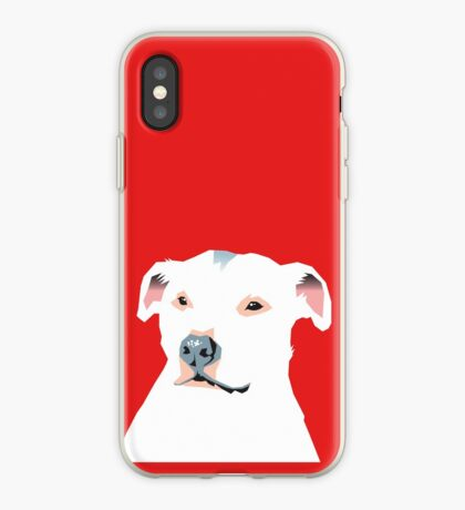 white staffie iPhone Case