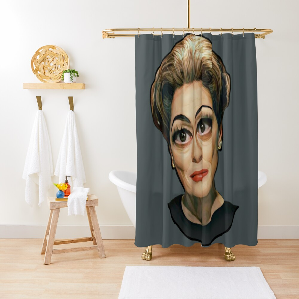 Mommie Dearest- Joan Crawford Shower Curtain