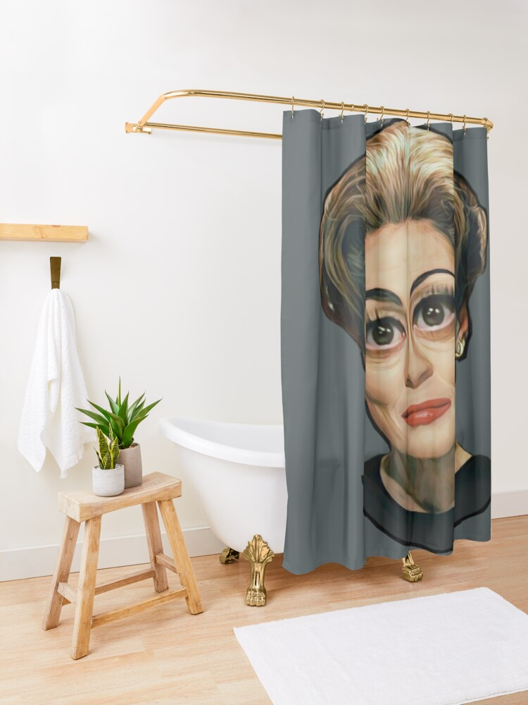 Alternate view of Mommie Dearest- Joan Crawford Shower Curtain