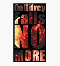 Gallifrey - No More (Black) - Simple Typography Collection Photographic Print