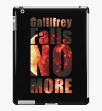 Gallifrey - No More (Black) - Simple Typography Collection iPad Case/Skin