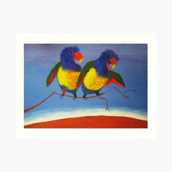 THE RAUCOUS RAINBOW LORIKEET (AUSTRALIA) Art Print