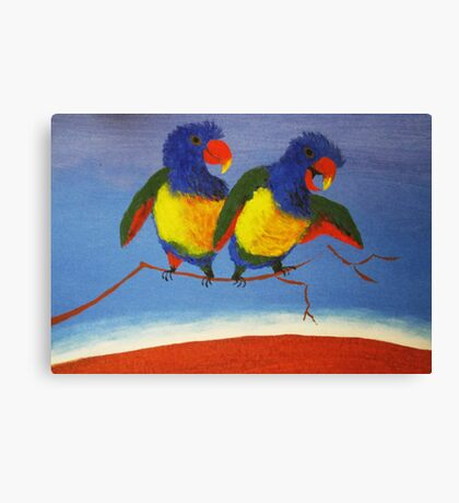 THE RAUCOUS RAINBOW LORIKEET (AUSTRALIA) Canvas Print