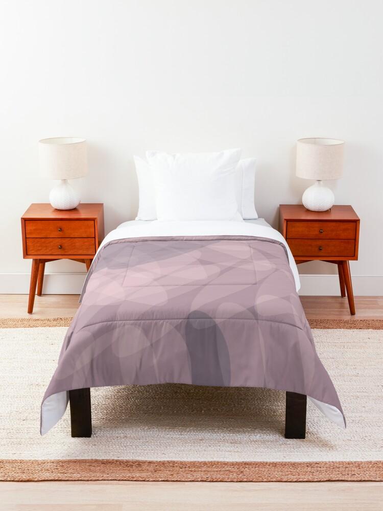 Alternate view of Blush Purple and Blue III Comforter