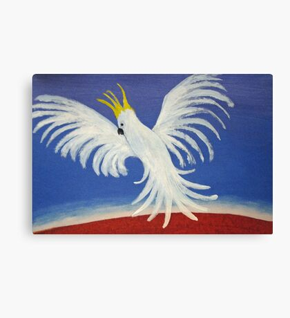 THE DELICATE BUT DEAFENING WHITE COCKATOO (AUSTRALIA) Canvas Print