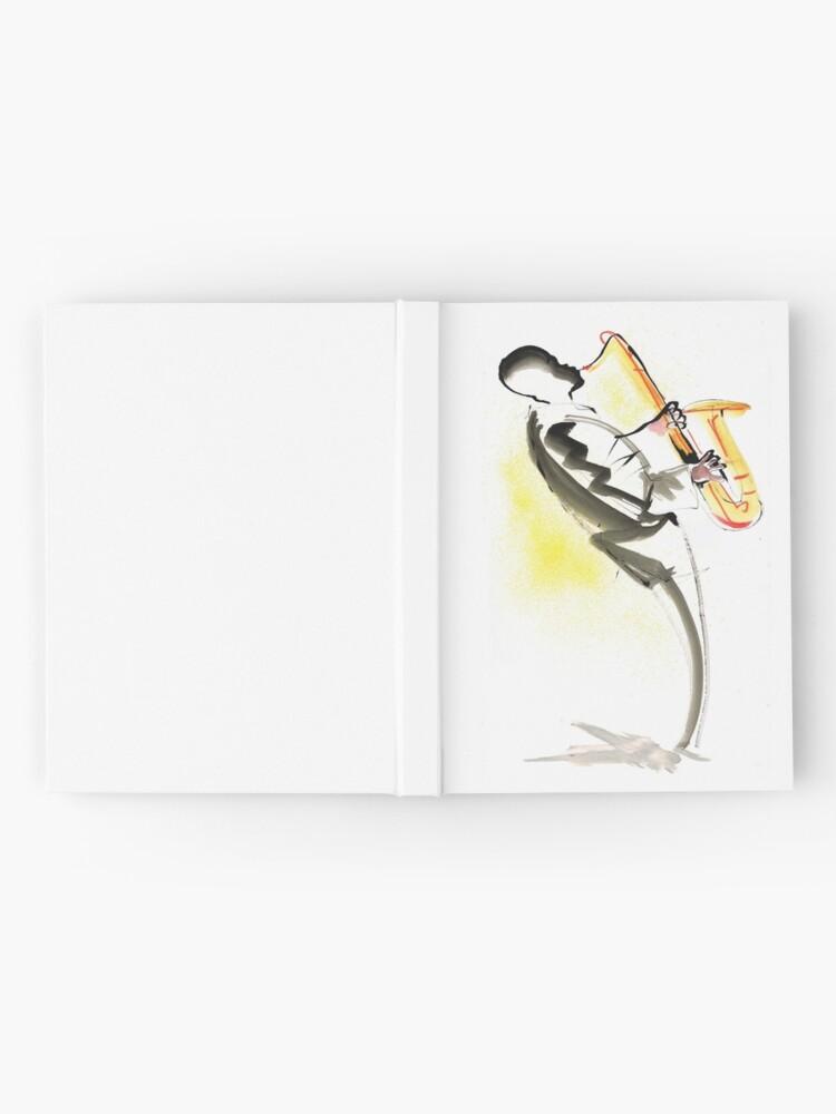 Alternate view of Jazz Saxophone Musician Hardcover Journal