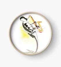 Jazz Saxophone Musician Clock