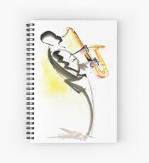 Jazz Saxophone Musician Spiral Notebook