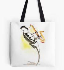 Jazz Saxophone Musician Tote Bag