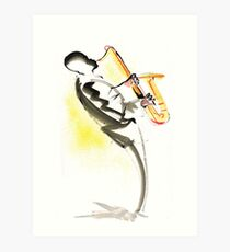 Jazz Saxophone Musician Art Print