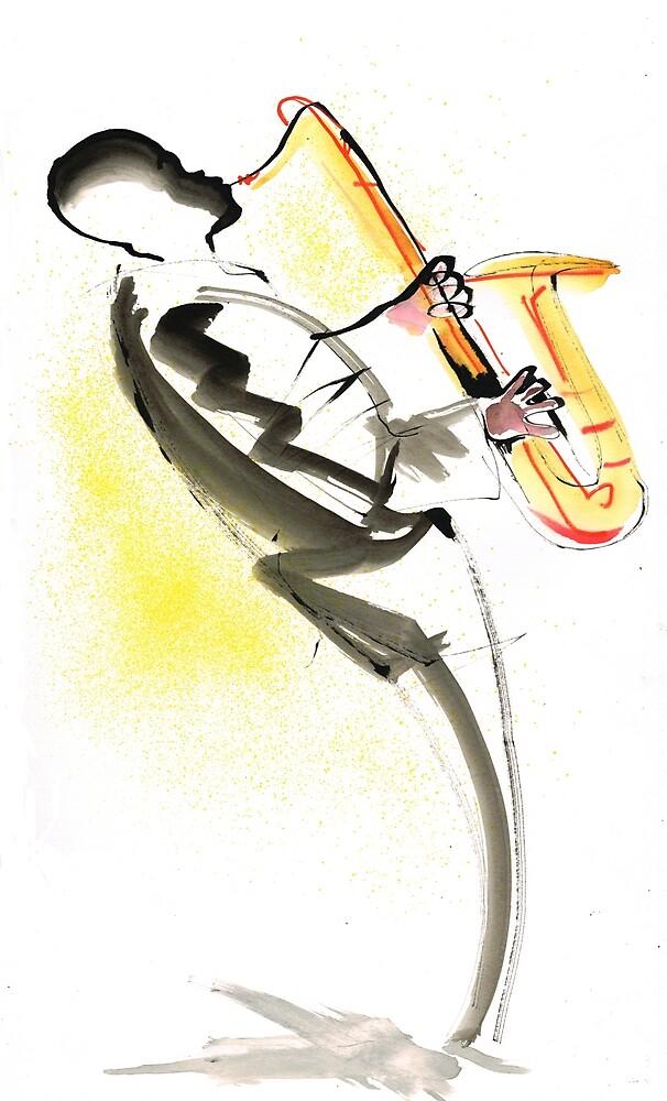 Jazz Saxophone Musician by CatarinaGarcia