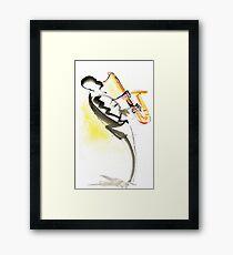 Jazz Saxophone Musician Framed Print