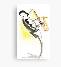 Jazz Saxophone Musician Metal Print