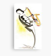 Jazz Saxophone Musician Canvas Print