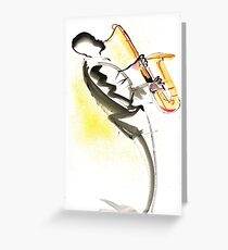 Jazz Saxophone Musician Greeting Card