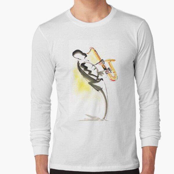 Jazz Saxophone Musician Long Sleeve T-Shirt