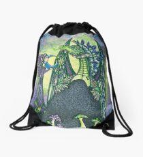 Moon Fairy and Dragon Friend Drawstring Bag