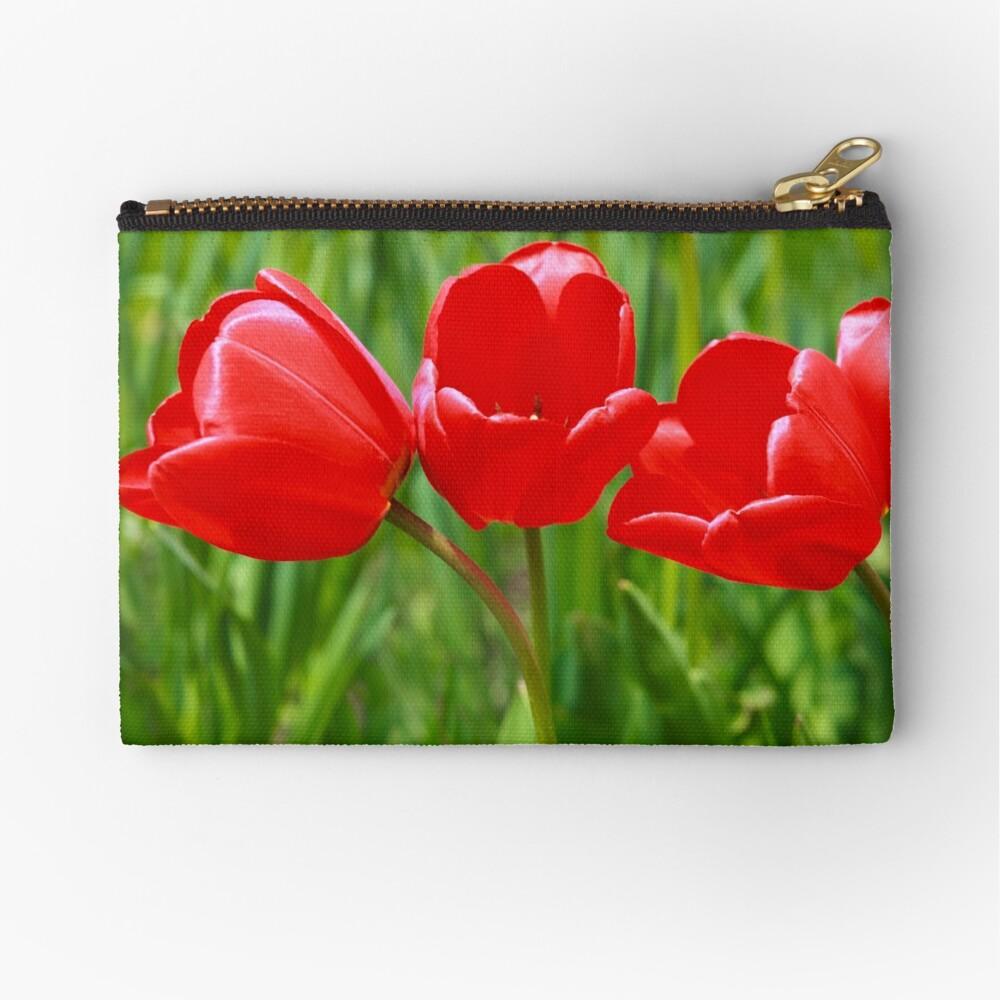 Three Tulips Zipper Pouch