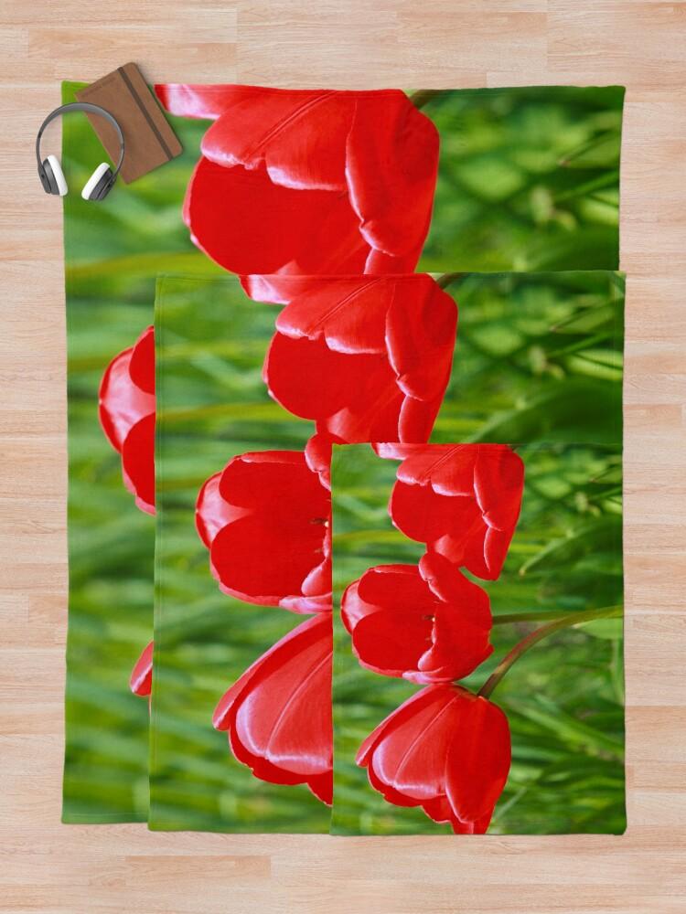 Alternate view of Three Tulips Throw Blanket