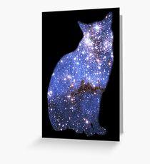 Zoomin' Zafira the magical cat Greeting Card