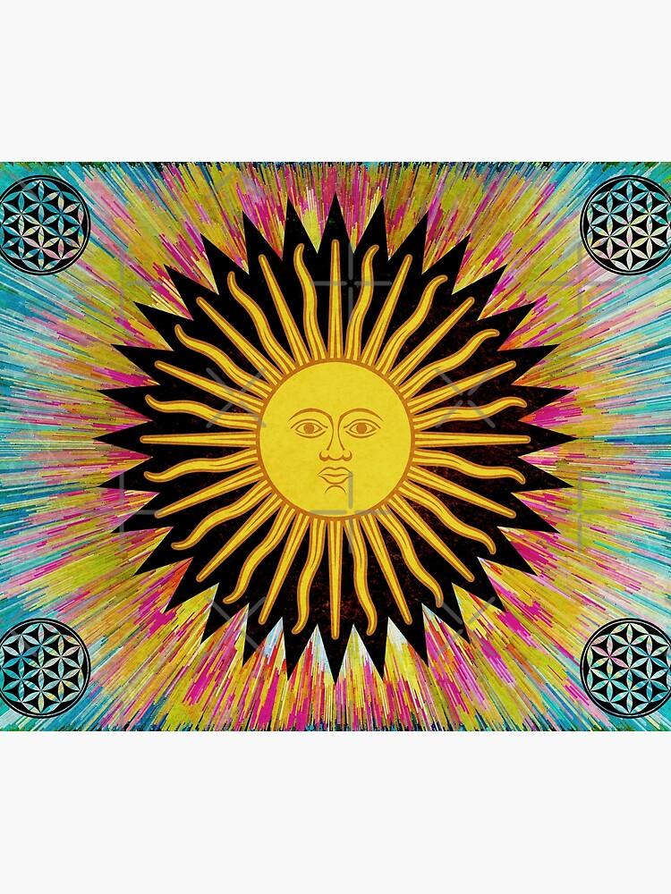 Psychedelic Sun Star / Bohemian Zen Hippie Festival  by ImageMonkey