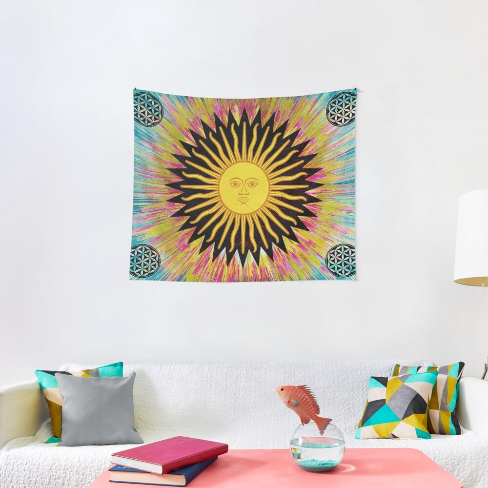 Psychedelic Sun Star / Bohemian Zen Hippie Festival  Tapestry