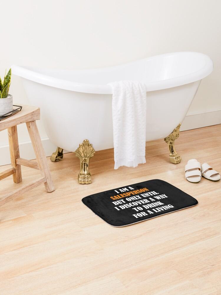 Funny Salesperson Design For Salesman Saleswoman Sales Bath Mat
