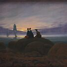 Moonrise over the Sea...Romantic Era ...1822 by edsimoneit
