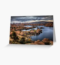 Watson Lake-Long View Greeting Card