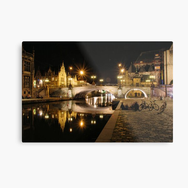 Reflections in the Leie Metal Print