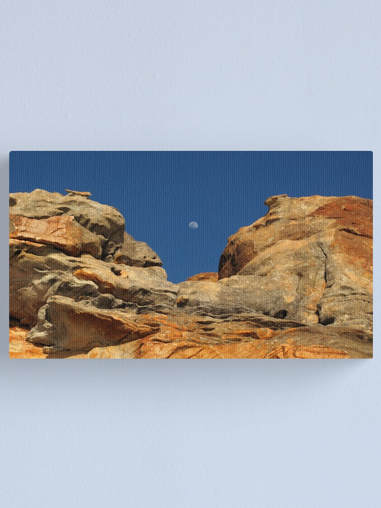 Alternate view of Moon in the Notch Canvas Print