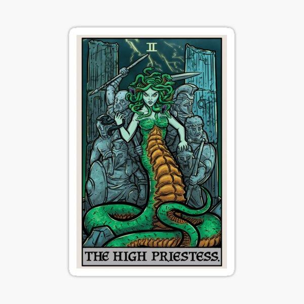 The High Priestess Tarot Card Medusa Greek Mythology Gorgon Horror Sticker