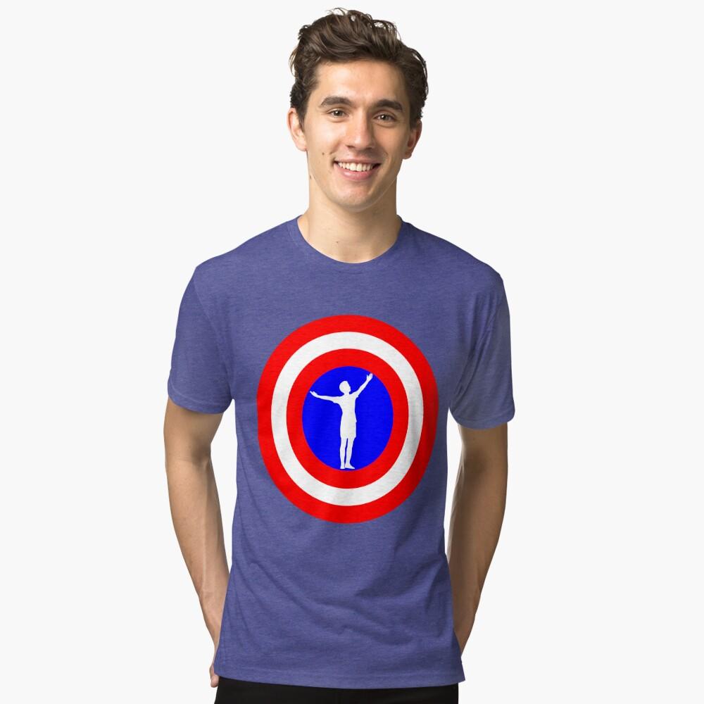 Megan Rapinoe goal pose Tri-blend T-Shirt