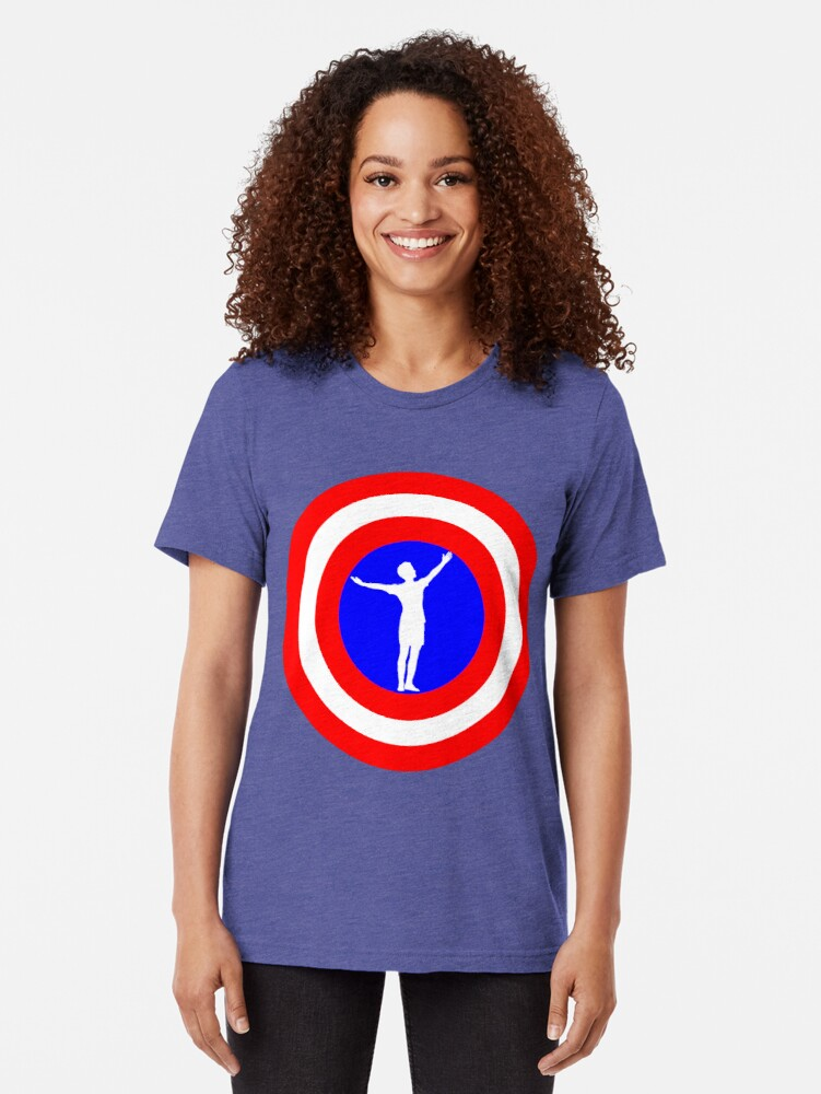 Alternate view of Megan Rapinoe goal pose Tri-blend T-Shirt