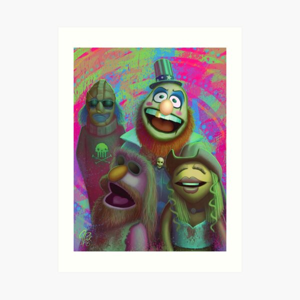 Muppet Maniac - Electric Mayhem as the Firefly Family Art Print