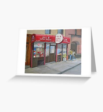 Otto's Shoppe, New York Greeting Card