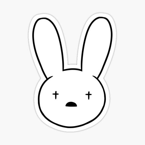 Bad Bunny Baby White Sticker By Aquamarinero Redbubble