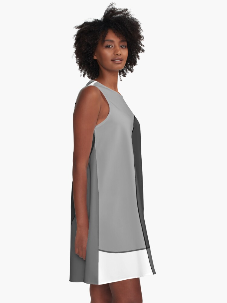 Alternate view of Circle Oval | Grey & Black A-Line Dress