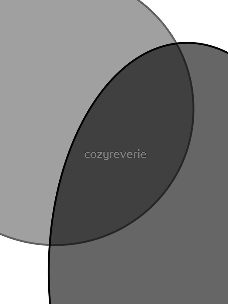 Circle Oval | Grey & Black by cozyreverie