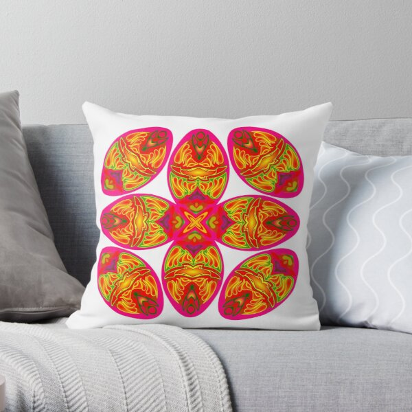 Color egg pattern Throw Pillow