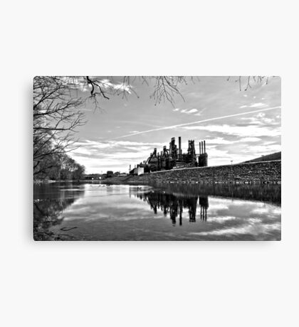 Reflection on the Lehigh Canvas Print
