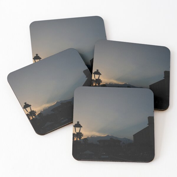 Stazzo Sunset with Mount Etna Coasters (Set of 4)
