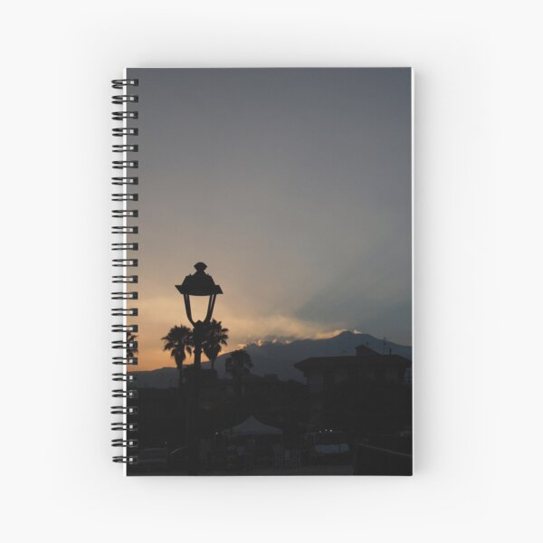 Stazzo Sunset with Mount Etna Spiral Notebook