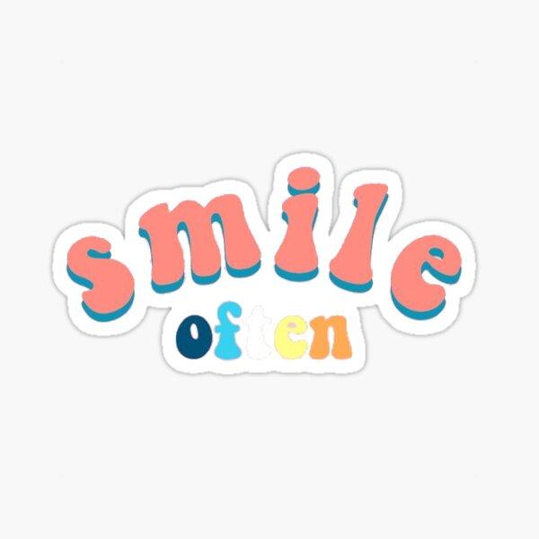VSCO Smile Often Sticker