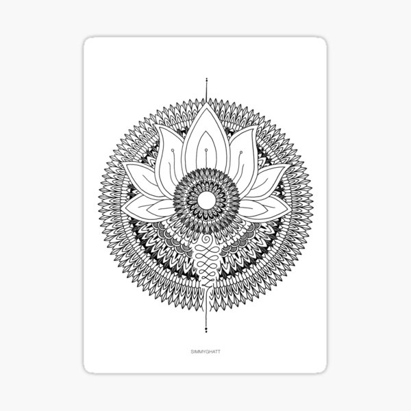 Rising Mandala - by SimmyGhatt Sticker