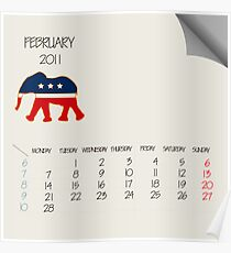 February 2011 animals Poster